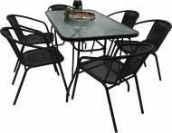 Комплект садовой мебели Kontrast Garden Bistro Black-6 (1244521)