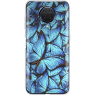 Чохол BoxFace Nokia G20 Лазурні Метелики Прозорий силікон (42373-up1550-42373)