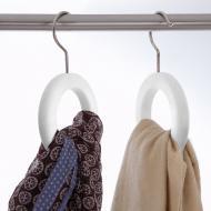 Вешалка для ремней, шарфов и галстуков  Orei - Белый лак (641)
