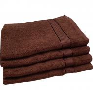 Полотенце махровое коричневое 40*70 см ( бордюр сатин ) Аиша