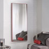 Зеркало настенное ростовое в алюминиевой раме 150х70 см Alum/Red