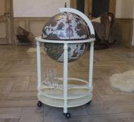 Глобус бар напольный Гранд Презент 42003W 42 см Слоновая кость (34)