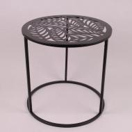 Столик металлический круглый Flora D-45 см Черный (35581)