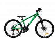 "Велосипед TopRider 680 2021 24"" 36 см Салатовий"