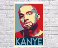 Постер плакат BEGEMOT Поп-Арт Kanye West 61x90 см (1121305-1)