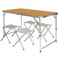Туристический стол Easy Campi и 4 стула