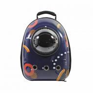 Рюкзак-переноска Taotaopets Window Dark Blue Circle з ілюмінатором