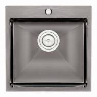 Мойка для кухни Q-tap D5050BL 2,7/1,0 мм (QTD5050BLPVD10)