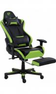 Кресло геймерское с подножкой для ног GT Racer X-2535-F Зеленый