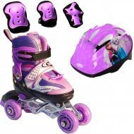 Роликовые коньки Набор Happy Combo Disney 29-33 ротация колес Frozen Фиолетовый (2T3007E)