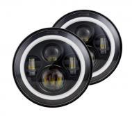Комплект LED фар 7 дюймів на ВАЗ 2101/Нива 4х4 90W
