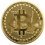 Сувенирная монета Биткоин Bitcoin Золото