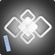 Люстра світлодіодна Vatan Light Ромби-4 з пультом 96 Вт Білий (01247)