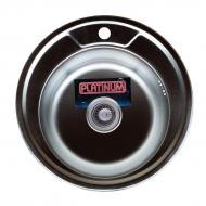 Кухонная мойка Platinum 490 из нержавеющей стали полированная 0,6/170 мм