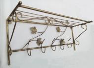 Вешалка настенная кованая Геометрия Оne 38х65х25 см