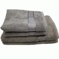 Полотенце махровое Аиша 70x140 см Серый (бордюр сатин)
