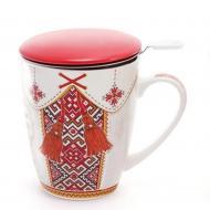 """Заварник фарфоровый Flora """"Люба моя Україна"""" 0,35 л (31551)"""
