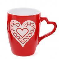 Чашка керамическая Flora Сердца 0,33 л (31581)