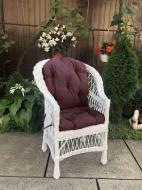 Крісло дерев'яне Woody Стандарт з подушкою садове Білий/Коричневий