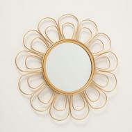 Зеркало настенное Гранд Презент Цветок 37 см Золотой (1017263-3)