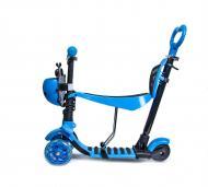 Самокат Scale Sports i-Trike 5в1 с родительской ручкой и сидением Голубой (784774338)