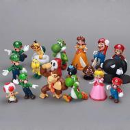 Фигурки героев игры Супер Марио 18 шт