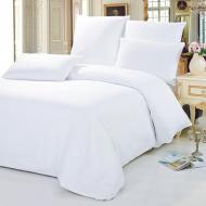 Двуспальный комплект постельного белья Белый Бязь 140 г/м2