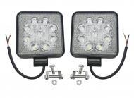 Комплект LED фар ближнього світла 9 діодів 12-24В