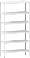 Стелаж металевий 6х120 кг/п 2000х1000х400 мм на болтовому з'єднанні