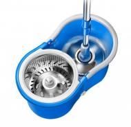 Швабра-ледащо Easy Mop з відром і автоматичним віджиманням кругла