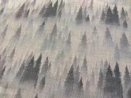 Ткань Maestro лен 280 см Голубой/Белый/Серый (000059087)