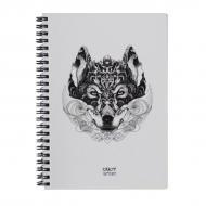 Скетчбук Crazy Sketches Wolf A5 на пружині