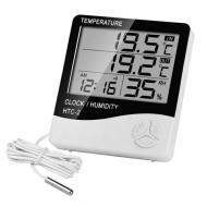 Термогигрометр с выносным датчиком HTC-2 LCD