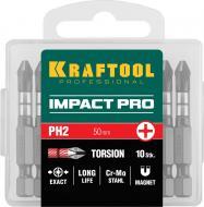 Биты Kraftool PH2х50 мм торсионные Impact Pro 10 шт. (26191-2-50-10)