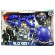 Набір поліцейського Yueqiang Police з каскою і маскою Синій (57363)