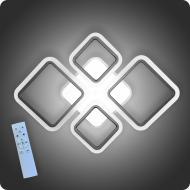 Люстра світлодіодна Vatan Light Ромби-4 з пультом 96 Вт Чорний (01189)