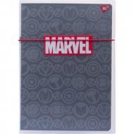 Шкільний зошит YES А4 48 кл. пластикова папка з малюнком Marvel Black (4823092254740)