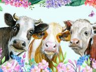 Картина на холсте Коровы 80x60 смLaPrint Натуральный холст (200124)