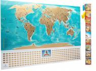 Скретч карта мира с флагами My Map Flags Edition на украинском языке