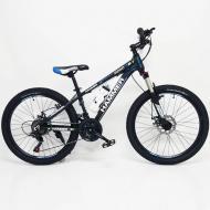 Гірський підлітковий велосипед HAMMER-24 Shimano MTB Чорно-синій