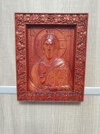 Икона Иисуса Христа деревянная резная (3122)