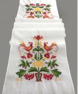 Рушник свадебный льняной Галерея льна Дерево счастья 43х220 см Белый с разноцветной вышивкой (82-06/412/000/76)