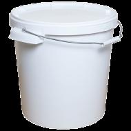 Пищевой контейнер з металлической ручкою и держателями 20 л 20 шт/уп Белый