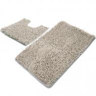 Набір у ванну і туалет HROOM з 2-ух килимків Світло-сірий (KOO_AVE001_10)