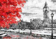 Картина на холстеLaPrint Лондон 70x50 см Натуральный холст (200090)