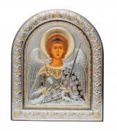 Икона серебряная Ангел Хранитель 21х26 см в арочном киоте под стеклом