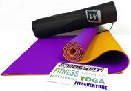 Килимок для йоги EasyFit TPE+TC 183х61 см Фіолетовий/Помаранчевий (EF-TPE6POC)