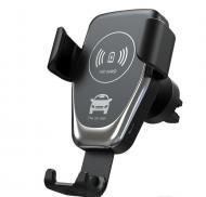 Автотримач для телефону CAR CHARGER Pro з бездротовою зарядкою універсальний Black (2374)
