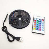 Стрічка світлодіодна UKC RGB 5050 з пультом від USB 2 м (5d67f1fa)