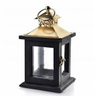 Подсвечник-фонарь деревянный Flora Levi Gold (35261)